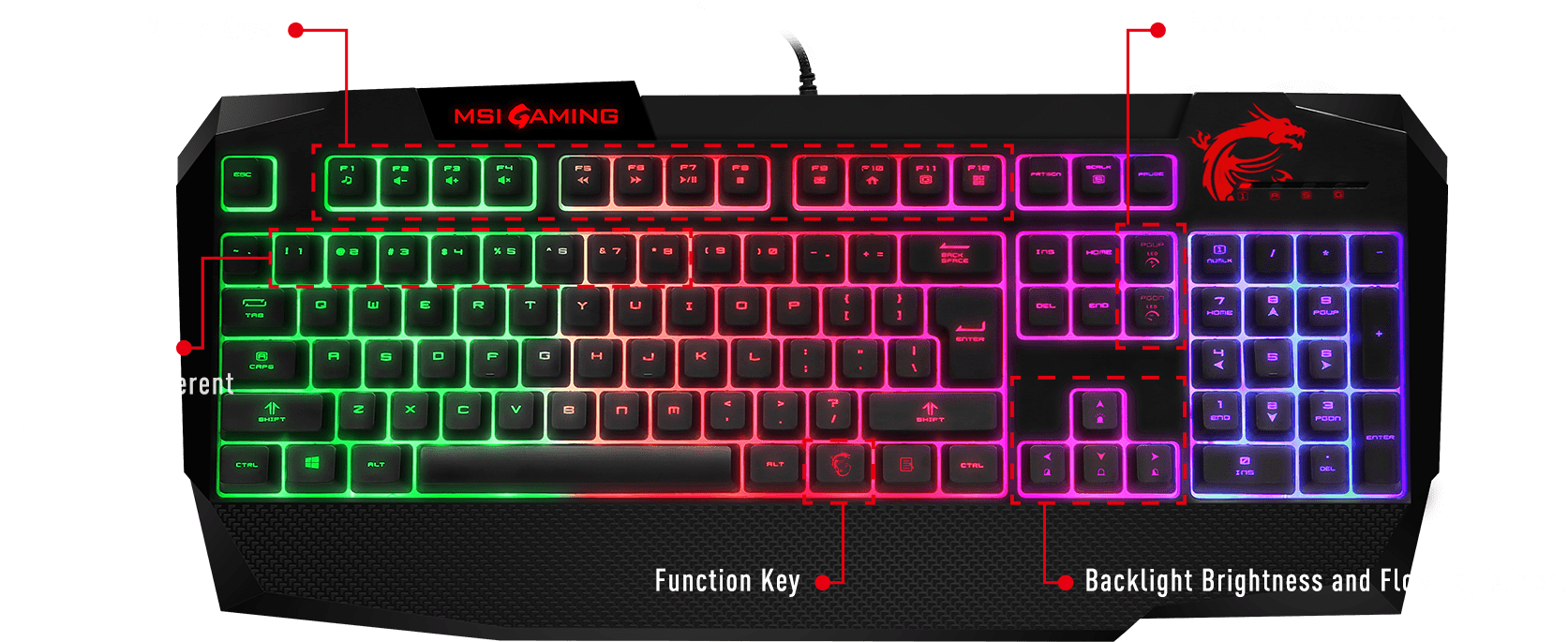 bb89a885b44 Gk40 GAMING keyboard FEATURES overview
