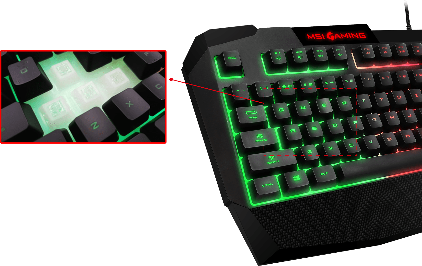 f36be1bfcae ... the Vigor GK40 GAMING KEYBOARD gives gamers an excellent responsive  feeling with each keystroke, very close to a mechanical switch keyboard.