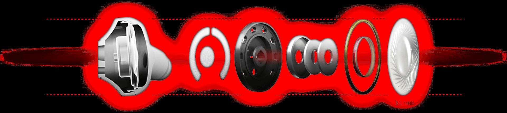 Transducteurs de 13,5 mm