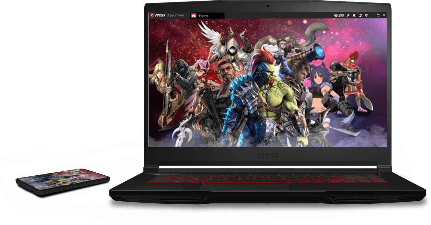 msi laptop with msi app player