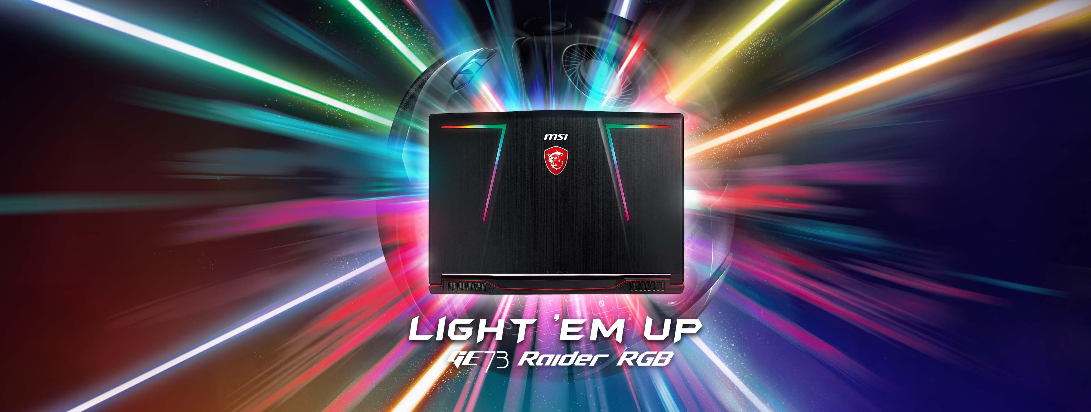 MSI GE73 Raider RGB 8RF – Light'em Up