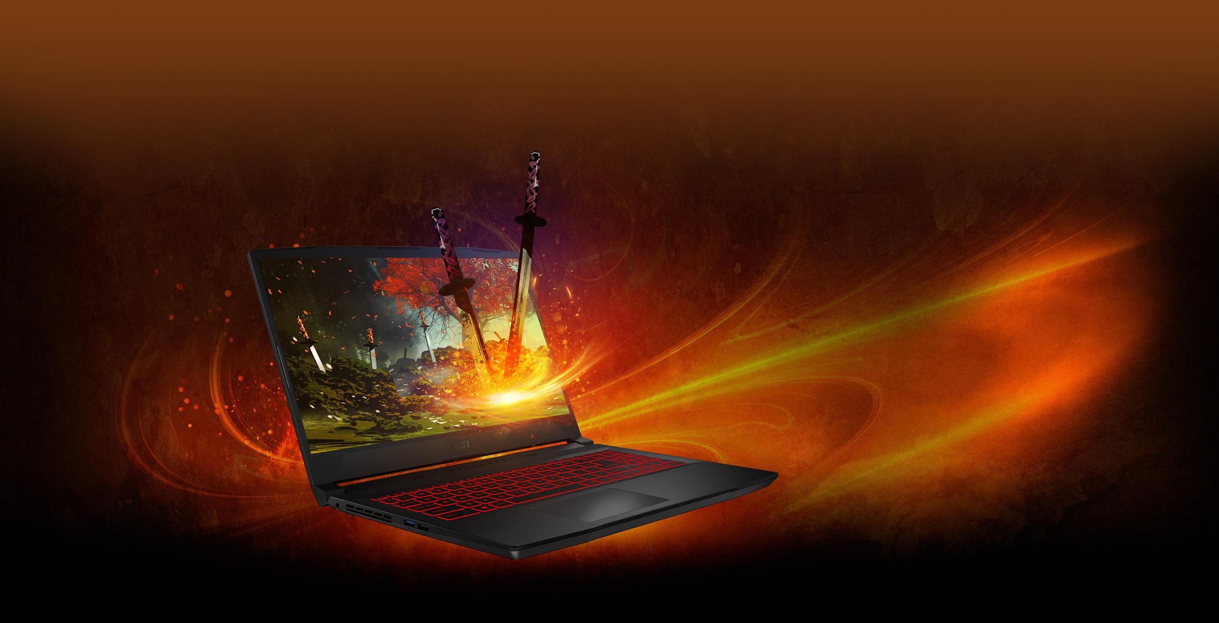 msi katana laptop cpu performance