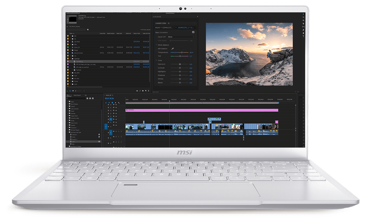 Speed up the loading of the footage and 4K video editing with advanced power.