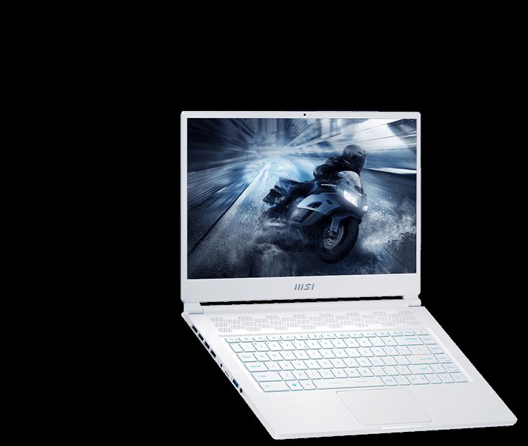 msi stealth 15m laptop wihte
