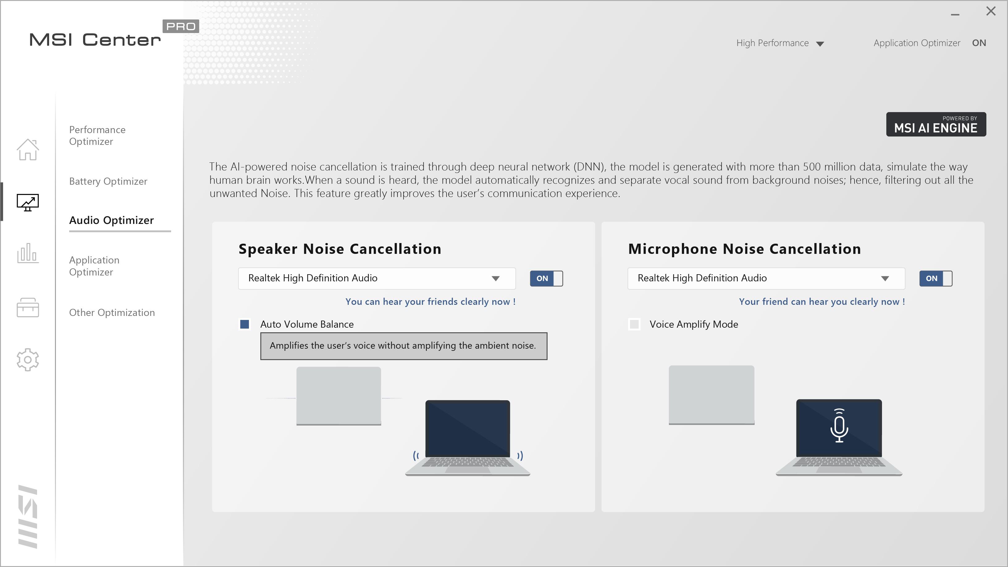 MSI AI Noise Cancellation