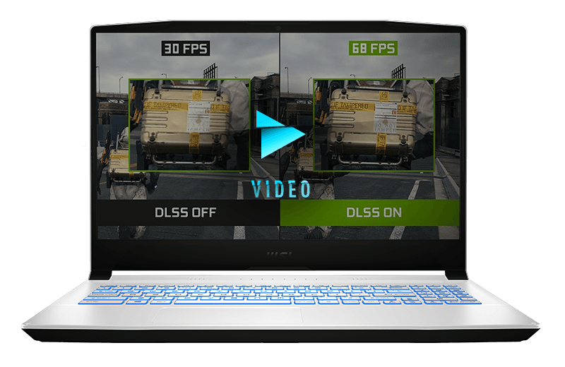 DLSS AI Acceleration MAX FPS. MAX QUALITY. POWERED BY AI.