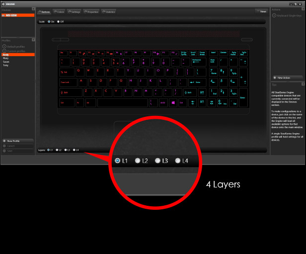 4 keyboard layers options!!
