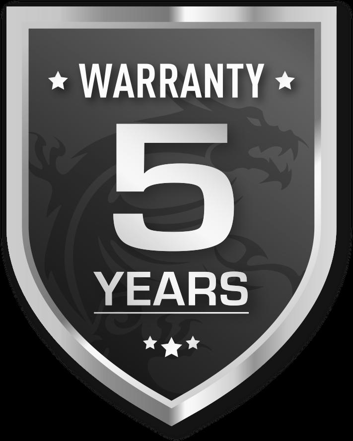 5-Years Warranty