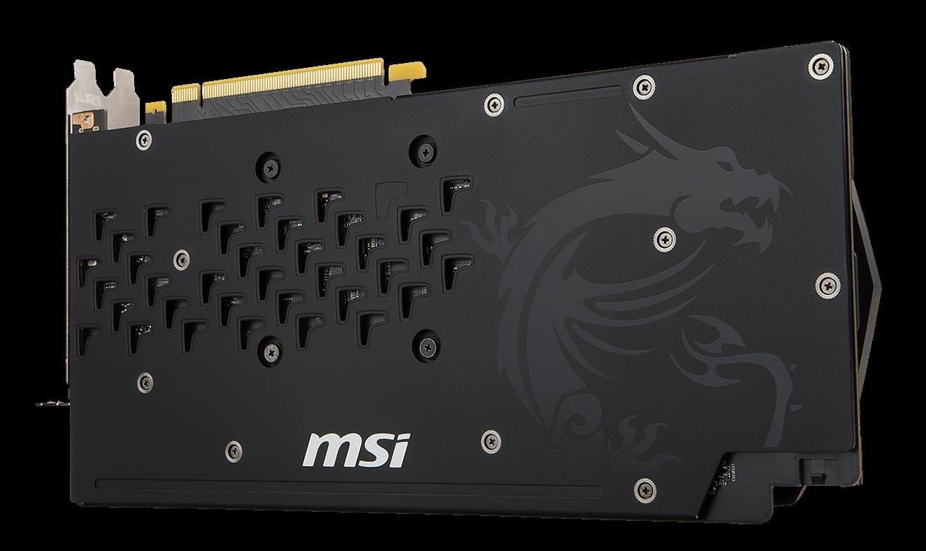 MSI GAMING GeForce GTX 1060 6GB GDRR5 192-bit HDCP Support DirectX 12 Dual Fan VR Ready OC Graphics Card GTX 1060 ARMOR 6G OCV1