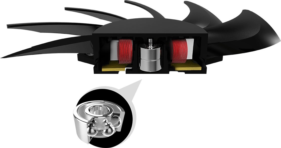 msi miner xs double ball bearing