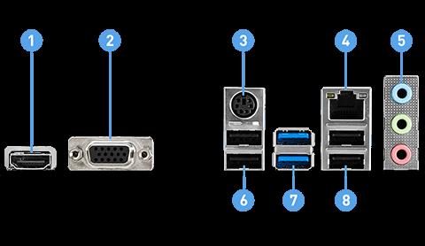 MSI H510M-A PRO back panel ports