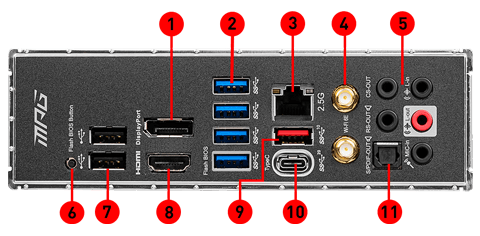 MEG Z590M edge wifi