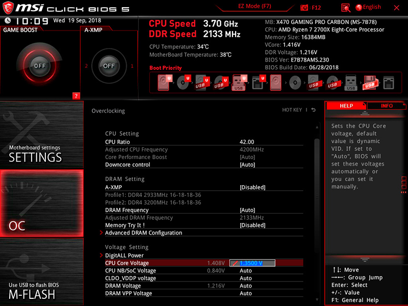 How to overclock your AMD Ryzen™ 7 2700X on MSI X470 motherboards