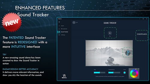Sound Tracker helps track spatial sound positioning.