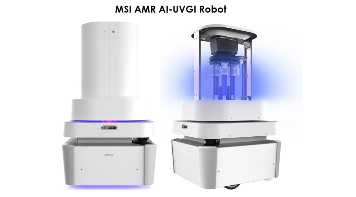 MSI Launched the Proven AMR Medical AI-UVGI Robot to COVID-19