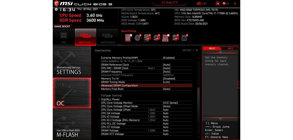 B560 BIOS Settings