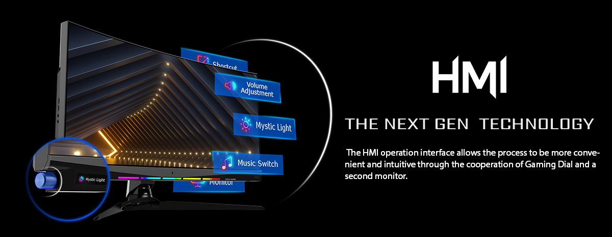 HMI - Gaming Dial and Assistance Monitor