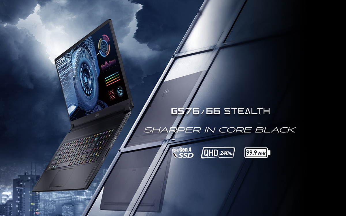 Sleek & Sophisticated – GS76/66 Stealth