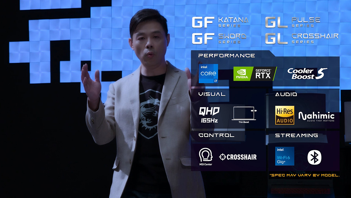 MSI筆電產品企劃副總經理彭仁坊