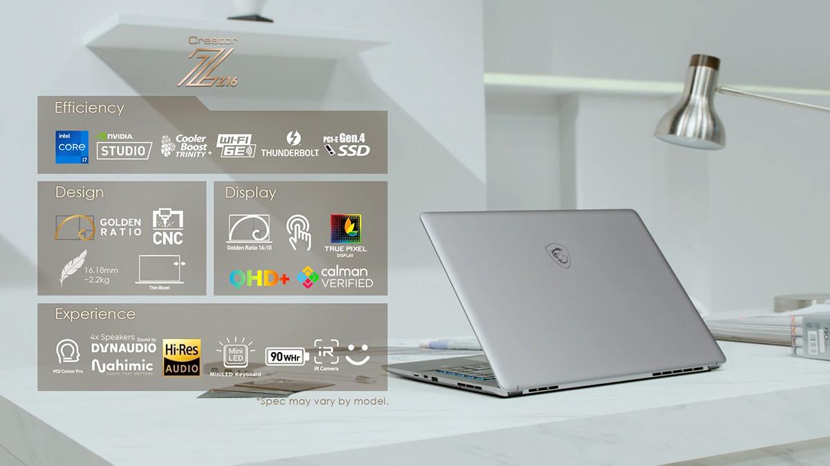 Creator Z16 創作者筆電 - 科技美學的完美詮釋