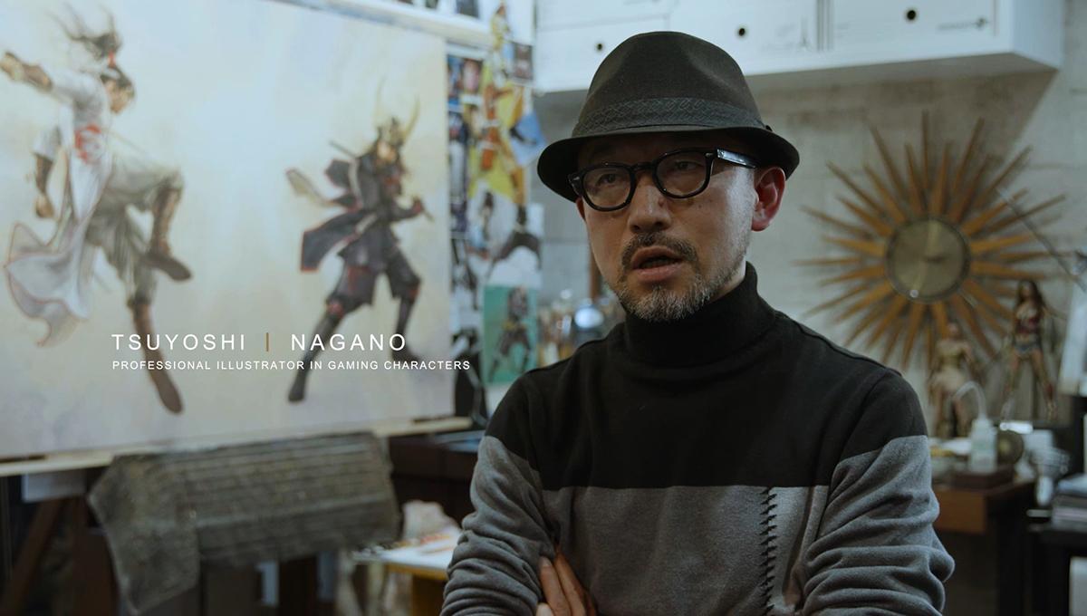 日本專業遊戲角色插畫師長野剛(NAGANO TSUYOSHI)