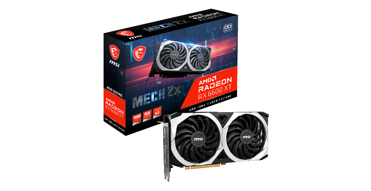 MSI AMD Radeon™ RX 6600 XT MECH series