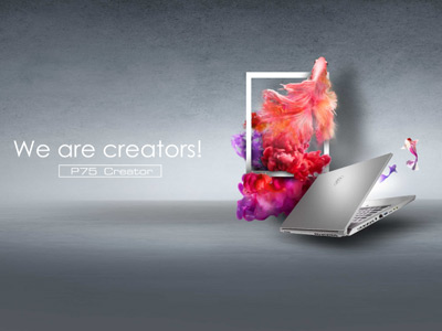MSI nous présente ses notebooks P65 et P75 Creator, deux modèles dédiés à la création de contenu équipés d'un processeur Intel® Core™ allant jusqu'à i9 de 9ème génération (selon modèle)