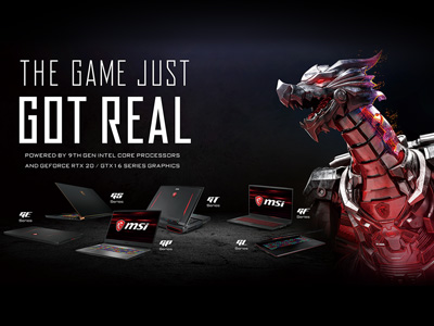 MSI Debuts the World's First Gaming Laptops with the 9th Gen. Intel® Core™ i9 Processors for Unrivaled Gaming Experience