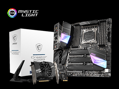 More Creativity, More Professional with MSI Creator X299 and New Intel Core X-Series Processors