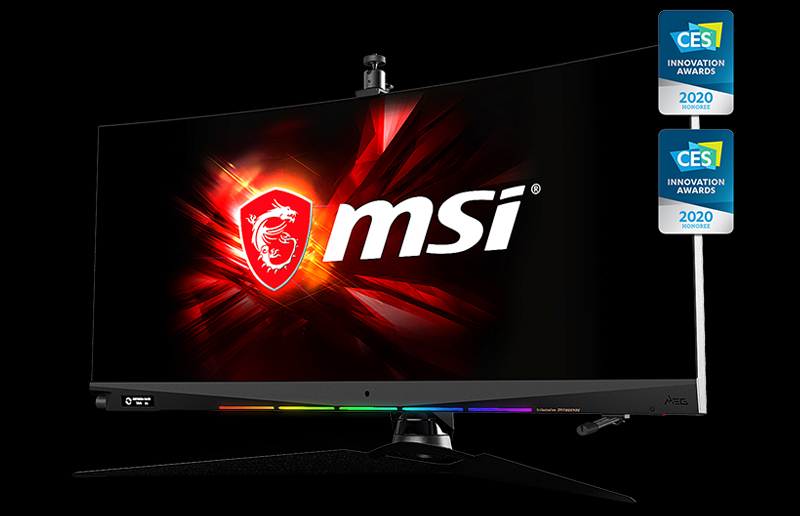 MSI will showcase the world's first 1000R Curved Gaming monitor during CES 2020.
