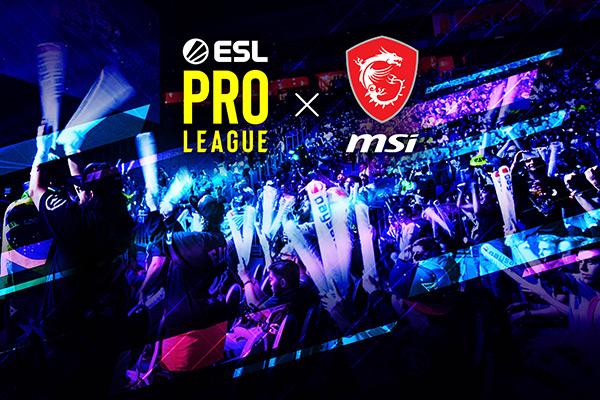 MSI nombrada 'Socio Oficial de Gaming' para las temporadas 11 y 12 de ESL Pro League