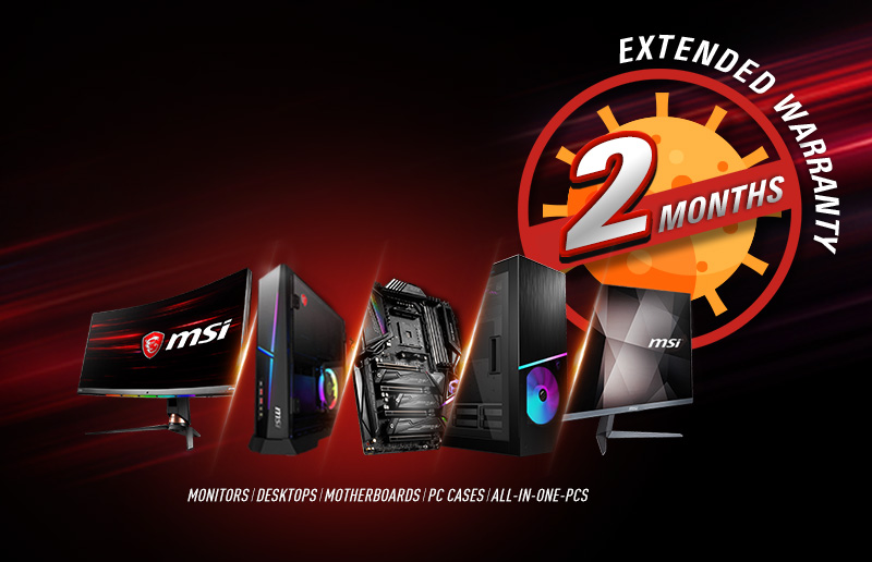 MSI Announces Global 2-Month Warranty Extension on its Products Due to the Coronavirus Outbreak