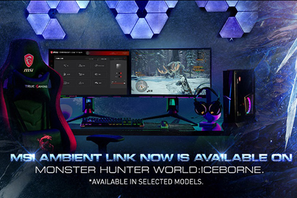 MSI Ambient Link now is available on MONSTER HUNTER WORLD: ICEBORNE.