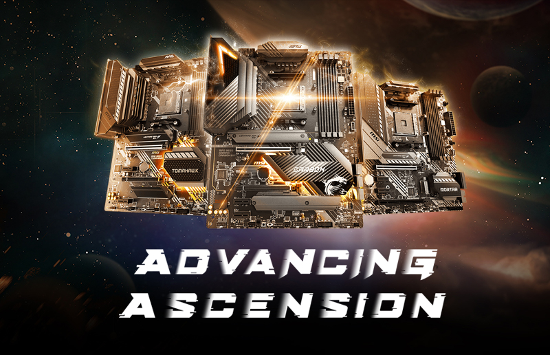 MSI 500-Series Motherboards are Perfect for AMD Ryzen™ 4000 Series Desktop Processors with PRO Technologies
