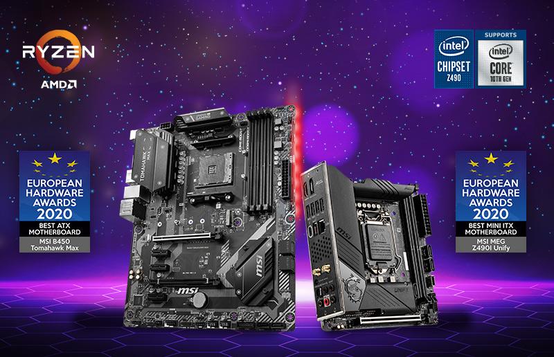 MSI Motherboards Won Two European Hardware Awards 2020
