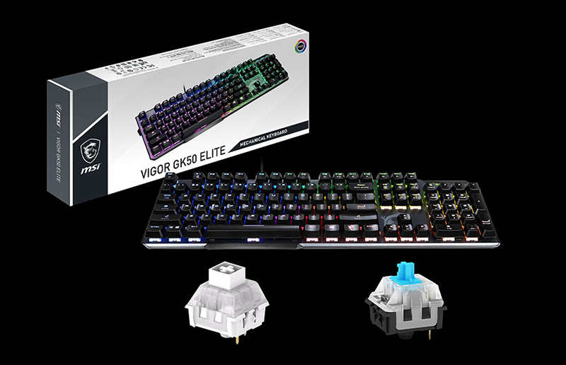 MSI announces vigor GK50 elite gaming keyboards, clutch GM08 gaming mouse and vigor WR01 wrist rest