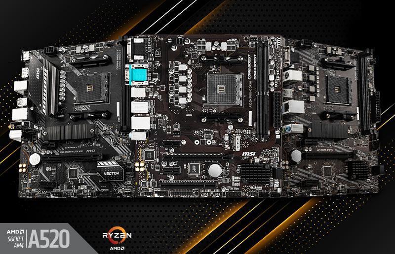 MSI anuncia sus placas madre AMD A520
