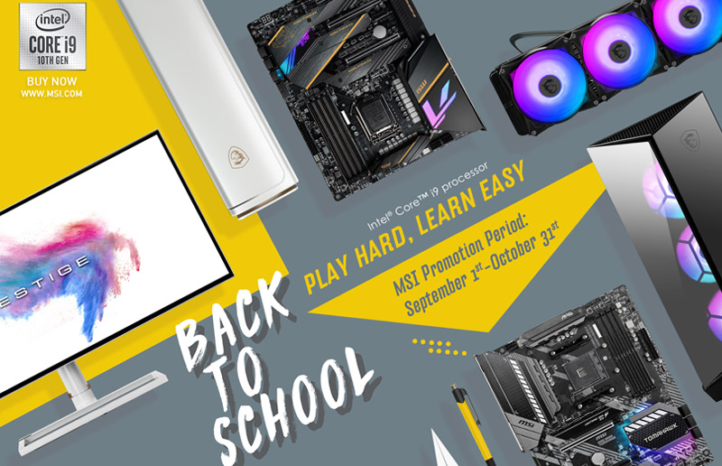 MSI recommends the best buying guide  in back-to-school season 2020