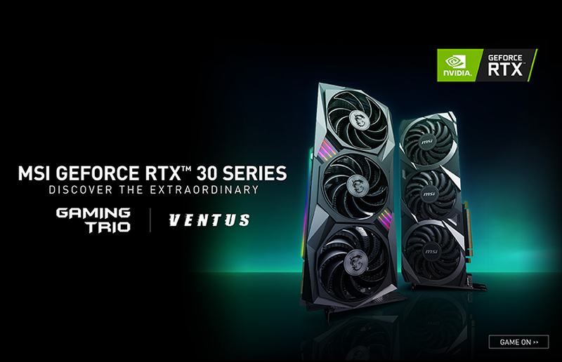 微星发布非公版GeForce RTX™ 30系列显卡新品