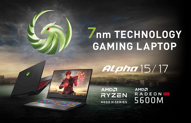 MSI présente ses nouveaux notebooks Alpha full-AMD pensés pour les gamers mainstream
