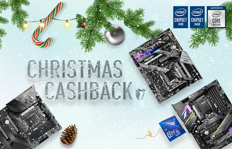 MSI announces Christmas Cashback on selected combo of MSI Z490 or B460 motherboard with Intel 10th Gen CPU