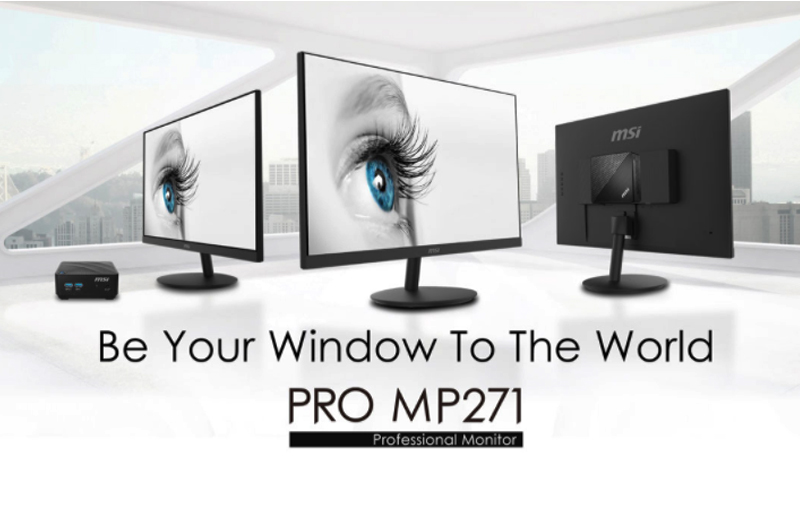 MSI's PRO MP271 Series Eye Care Professional Monitors Are Ready to Enhance the Productivity at Home and Office