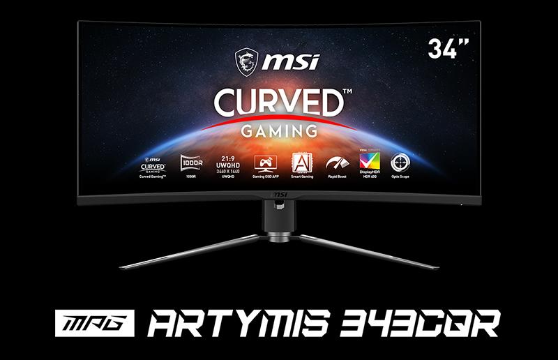 Set the Curve - MSI MPG ARTYMIS 343CQR