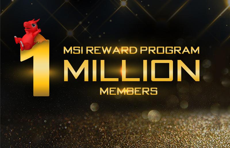 MSI Celebrates the One Million MSI Reward Program Members Mark