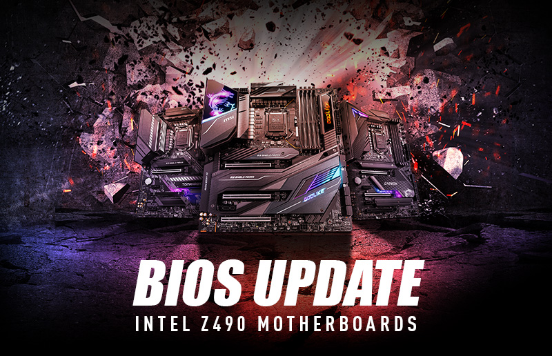 MSI Z490 Motherboards Unleash the Performance of PCIe 4.0 Graphics Cards and SSDs