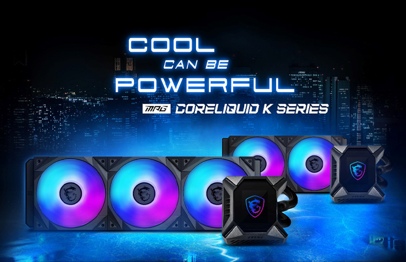 Cool Yet Powerful, The MPG CORELIQUID K Series Is The Latest Member to Join the MSI Liquid Cooler Family