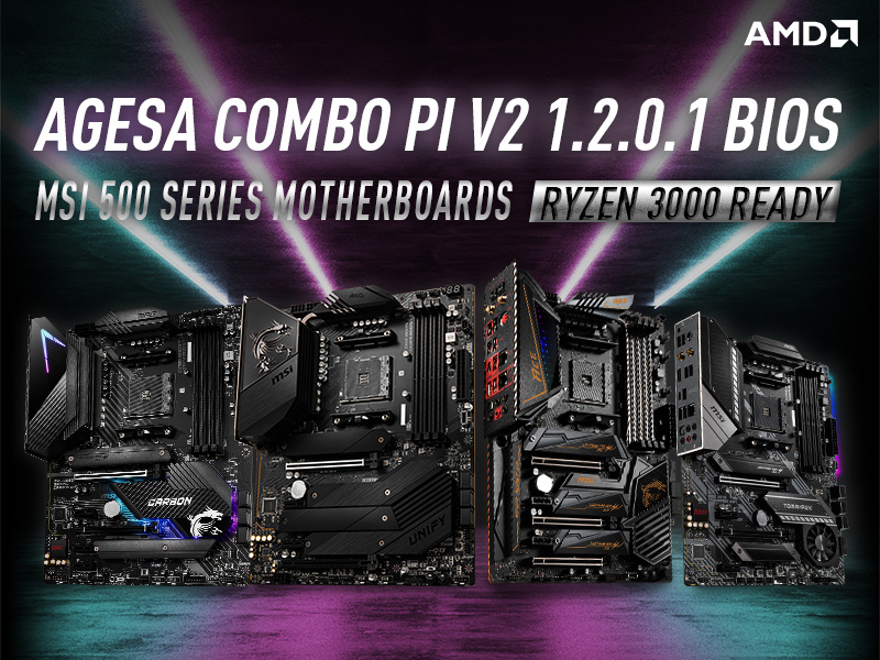 MSI Released AGESA COMBO PI V2 1.2.0.1 Beta BIOS for AMD 500 Series Motherboards