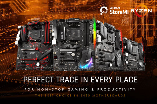 Perfect Trace in Every Place – AMD B450 motherboard