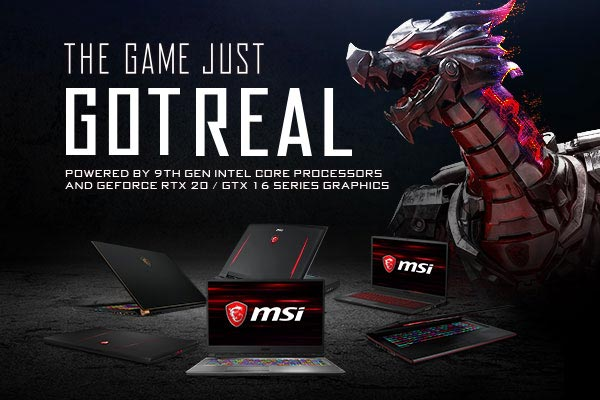 MSI GeForce RTX 20 & GTX 16 Series Gaming Laptops – The Game Just Got Real
