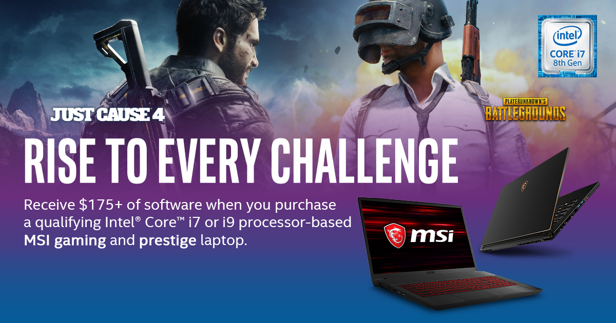Intel Ultimate Game Bundle: Rise to every Challenge